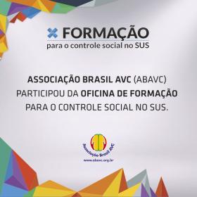 ABAVC participou da Oficina de Formação para o Controle Social no SUS