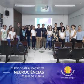 Aconteceu ontem (12|Mar) a primeira aula do I Curso de Atualização em Neurociências.