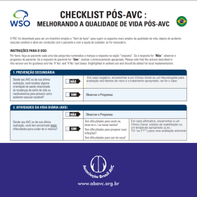 Checklist Pós-AVC: Melhorando a qualidade de vida pós-AVC