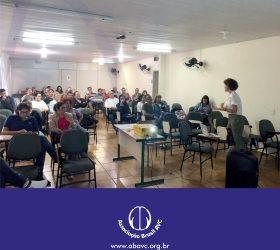 Professores da ESCOLA DE ED BASICA ENG ANNES GUALBERTO participaram de uma apresentação sobre o AVC