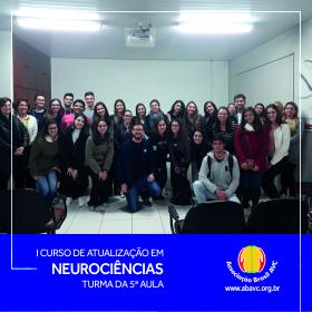 Aconteceu ontem (13|AGO) a 5ª aula do I Curso de Atualização em Neurociências.