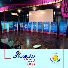 Começou a Exposição Interativa do AVC na Escola Estadual Jandira D Avila