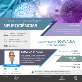 8ª Aula do I Curso de Atualização em Neurociências | 11/11