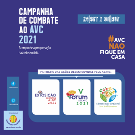 Lançada a programação oficial da Campanha do Combate ao AVC 2021.